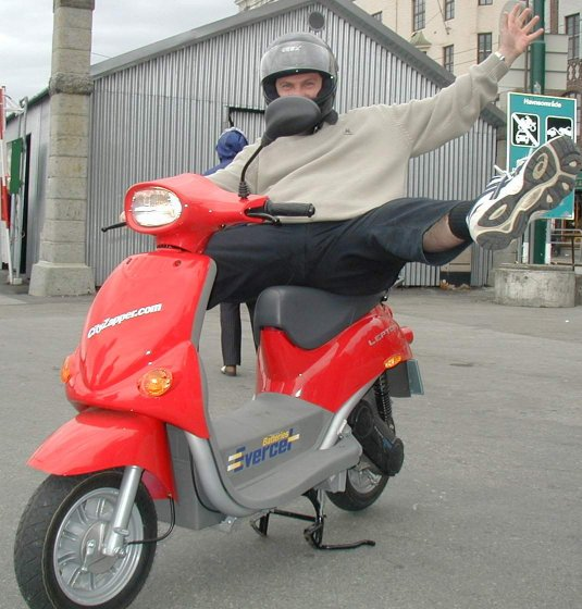 Testtur i elmoped